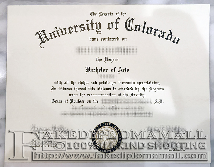 University of Colorado Fake Diploma