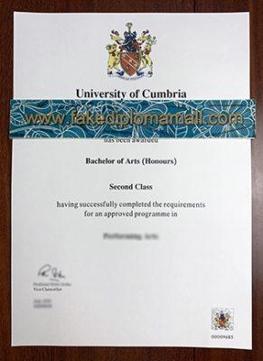 Buy Fake University of Cumbria Degree Certificate