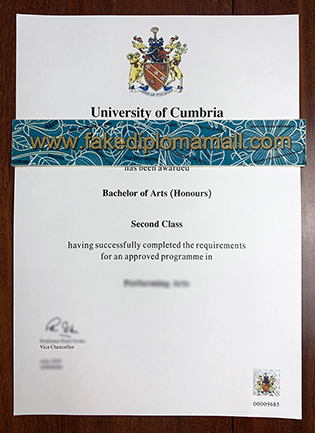 Buy Fake University of Cumbria Degree Certificate