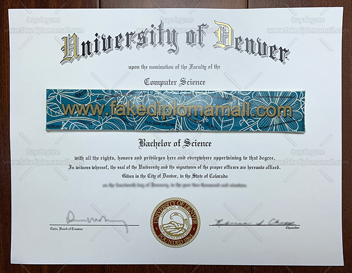University of Denver Fake Diploma