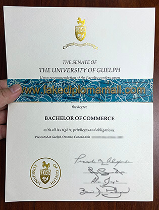 The University of Guelph Fake Degree Sample