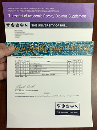 How Many Courses Does The University of Hull Transcript Have?