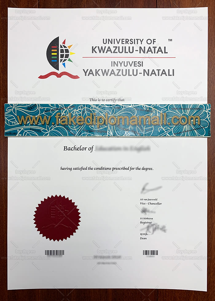 University of Kwazulu-Natal diploma