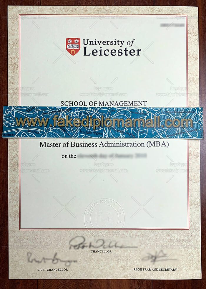 University of Leicester fake degree