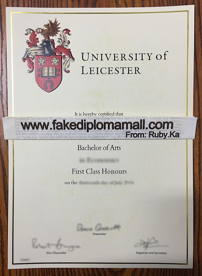 University of Leicester Fake Diploma