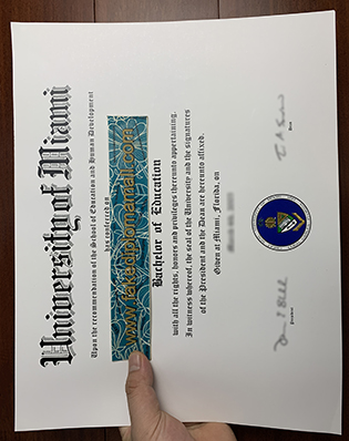 University of Miami Fake Degree Certificate, Buy UMiami Fake Diploma