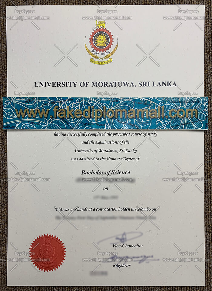 University of Moratuwa Fake Diploma
