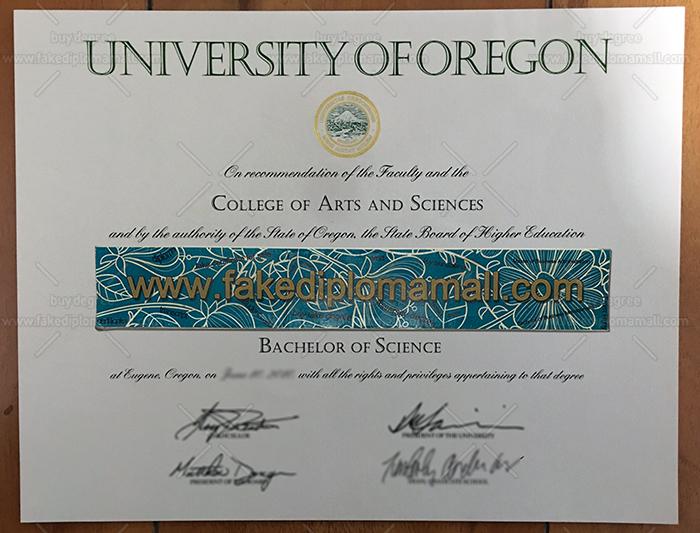 University of Oregon Fake Diploma