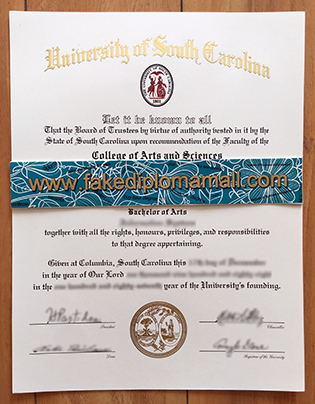 The Procedure Of  Creating The University of South Carolina Fake Diploma