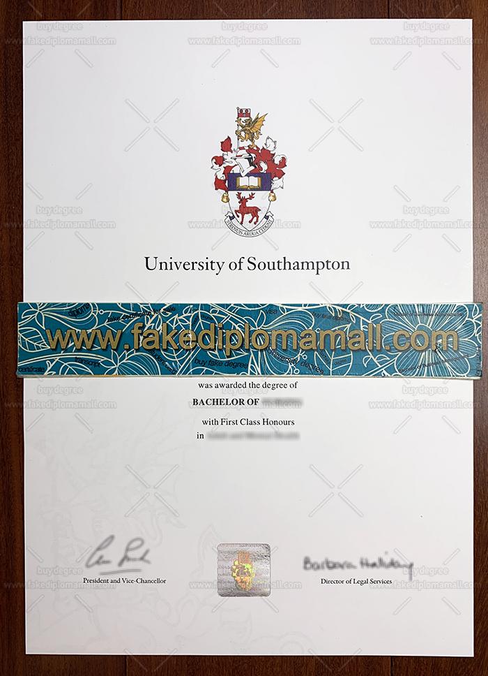 University of Southampton Fake Diploma