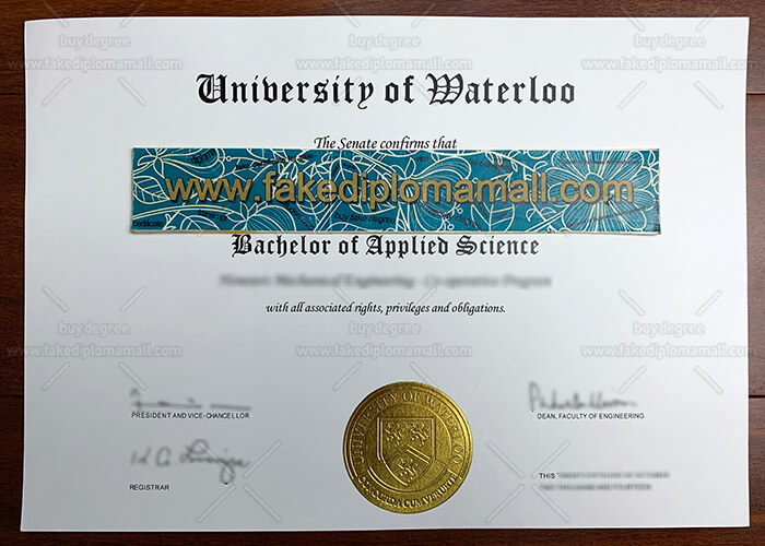 University of Waterloo Fake Diploma
