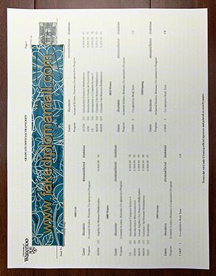 University of Waterloo Transcript, Buy University of Waterloo Certificate