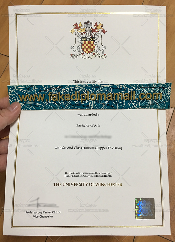 University of Winchester Fake Degree