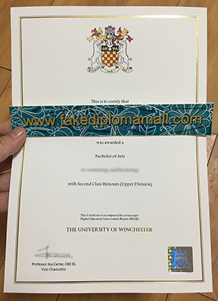 Fake University of Winchester Diploma, Buy A Fake Degree From England