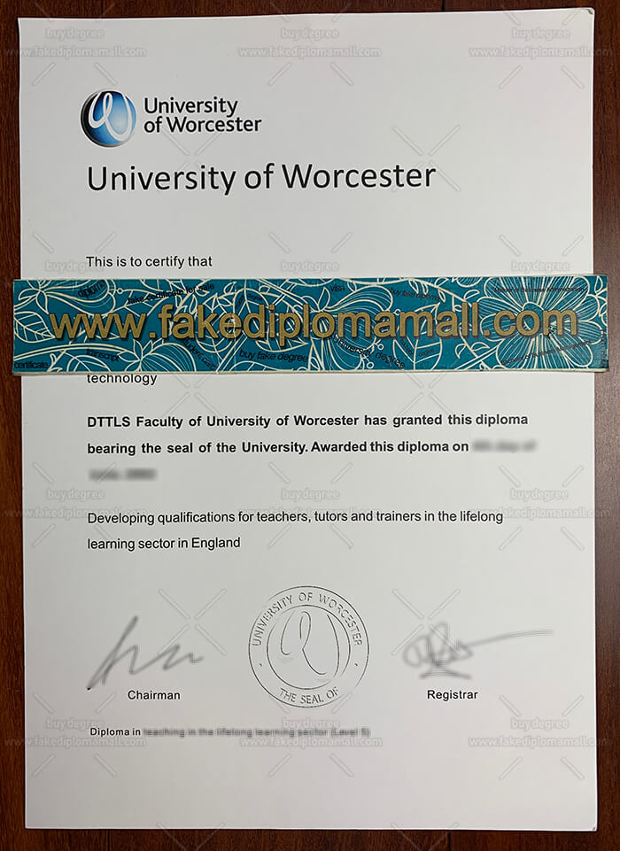 University of Worcester certificate letter