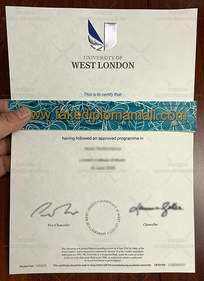 Who Sell The Fake University Of West London Diploma Online Best Site To Get Fake Diplomas