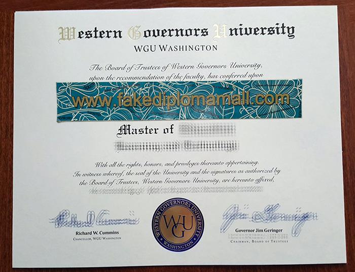 WGU Fake Diploma