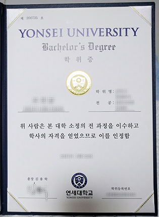 Yonsei University Fake Degree For Sale