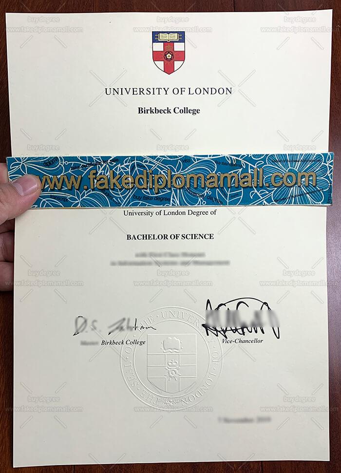Birkbeck College Fake Diploma
