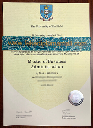 Buy The University of Sheffield Fake Degree Certificate