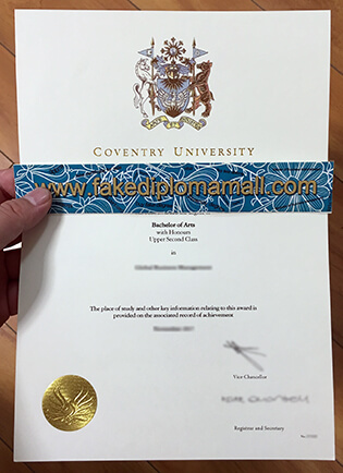Coventry University Fake Degree in Business Management