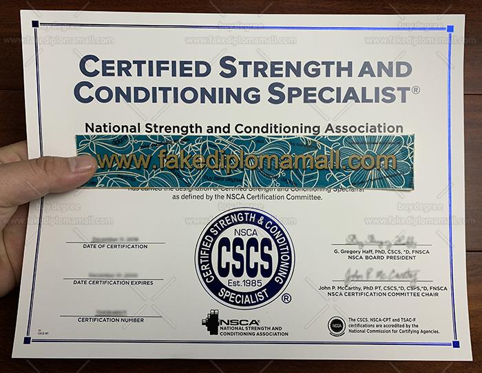 Fake CSCS Certificate