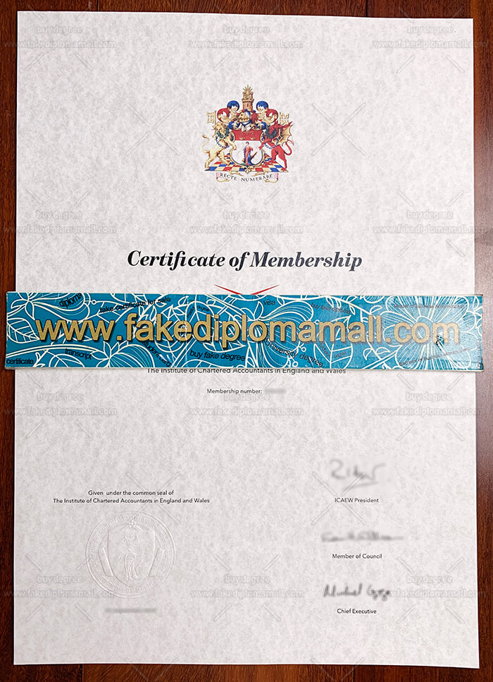 ICAEW Fake Certificate