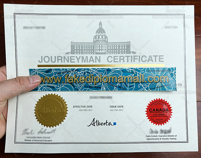 Journeyman Fake Certificate