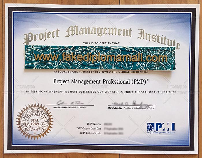PMP Fake Certificate