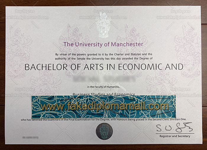 The University of Manchester Fake Degree