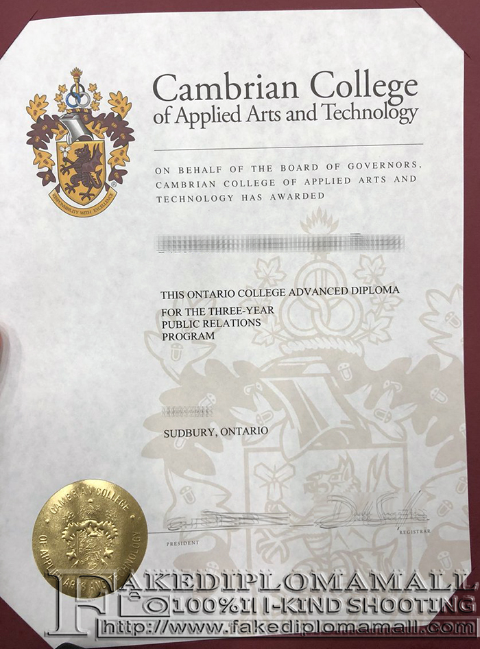 Cambrian College Advanced Diploma