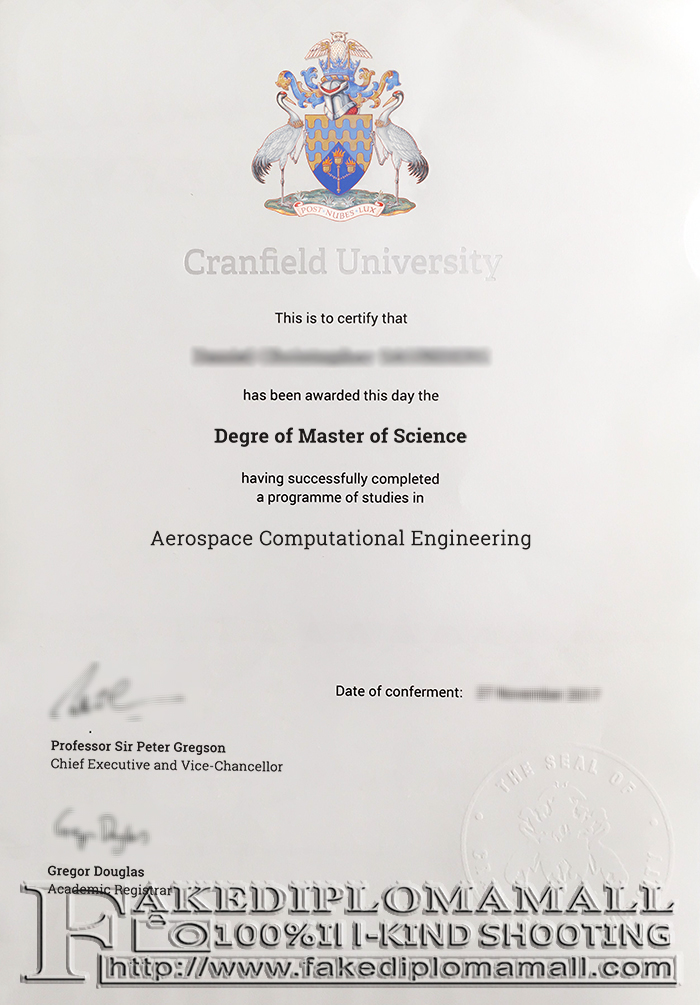 Cranfield University Fake Degree