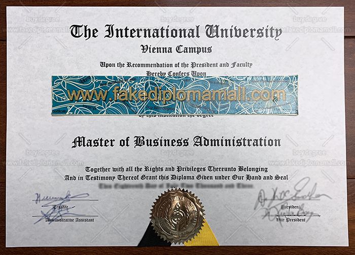 International University Vienna Fake Diploma