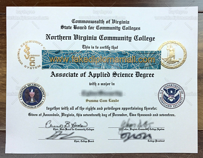 Northern Virginia Community College Fake Diploma