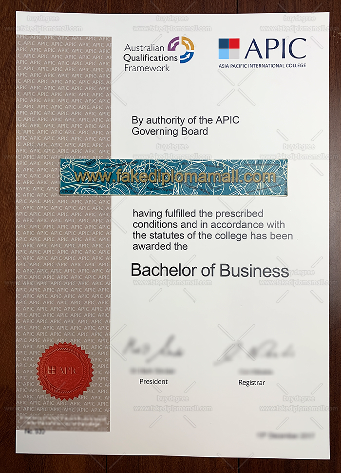 Asia Pacific International College Fake Diploma