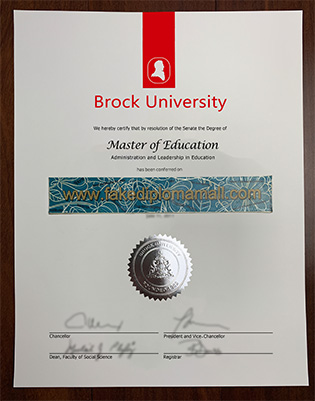 Buy Brock University Fake Diploma, Fake Brock University Degree Certificate
