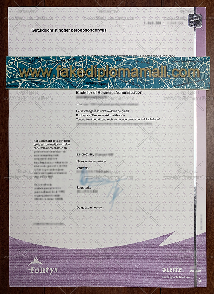 Fontys University of Applied Sciences Fake Diploma
