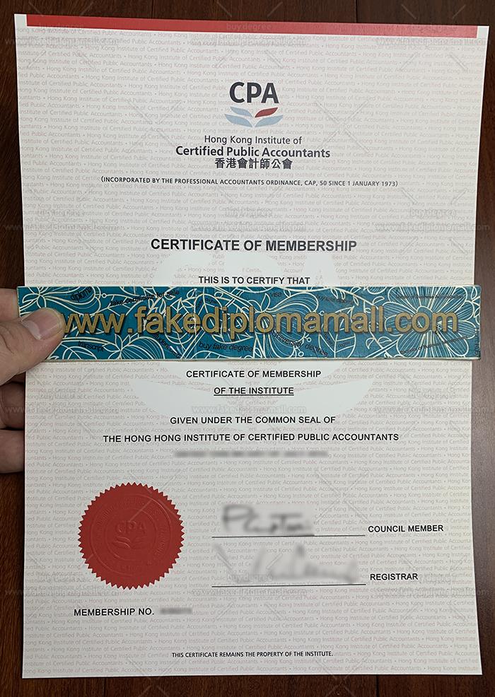 HKICPA Fake Certificate