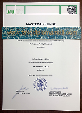 Buy LMU Munich Fake Diploma, Ludwig-Maximilians-Universität München Diploma Sample