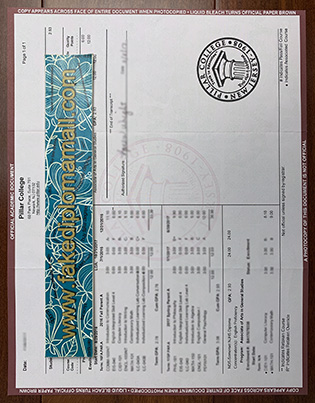 Buy A Fake Pillar College Transcript Template to Help Yourself