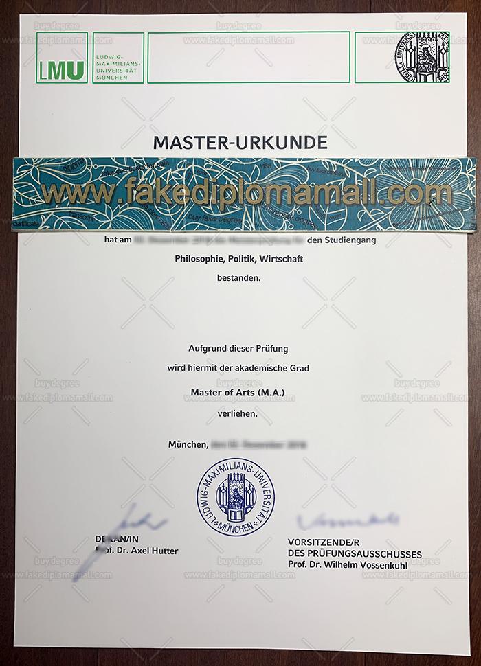 LMU München Fake Diploma