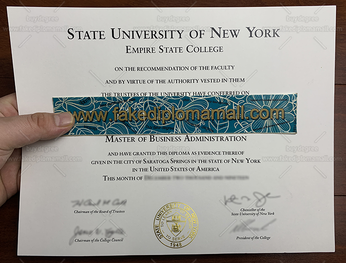 Empire State College Fake Diploma
