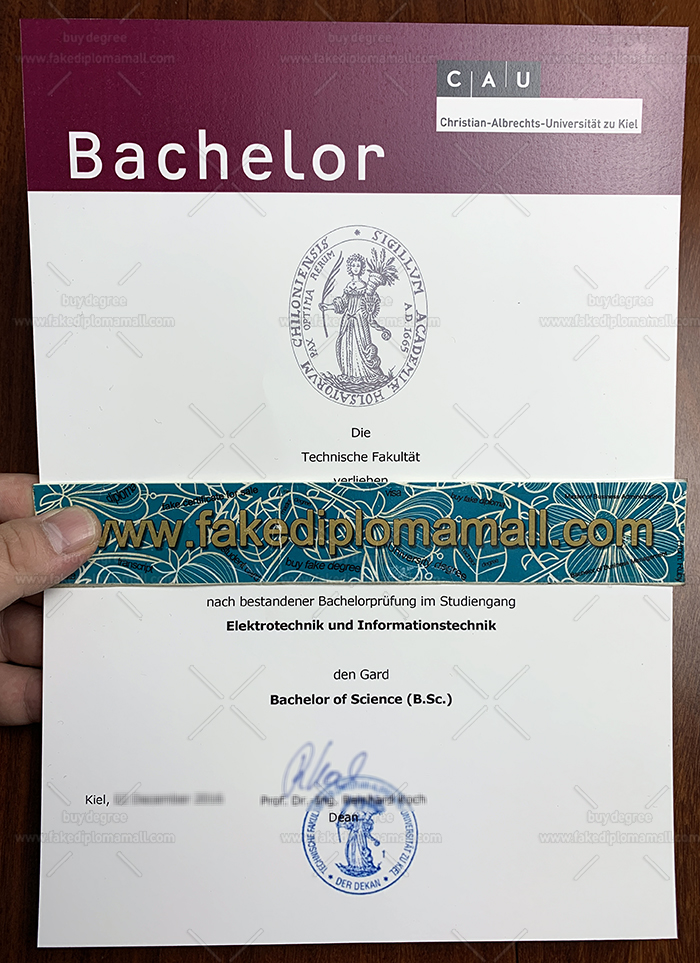 University of Kiel Fake Diploma