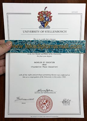 Using The Stellenbosch University Fake Diploma Go Abroad.