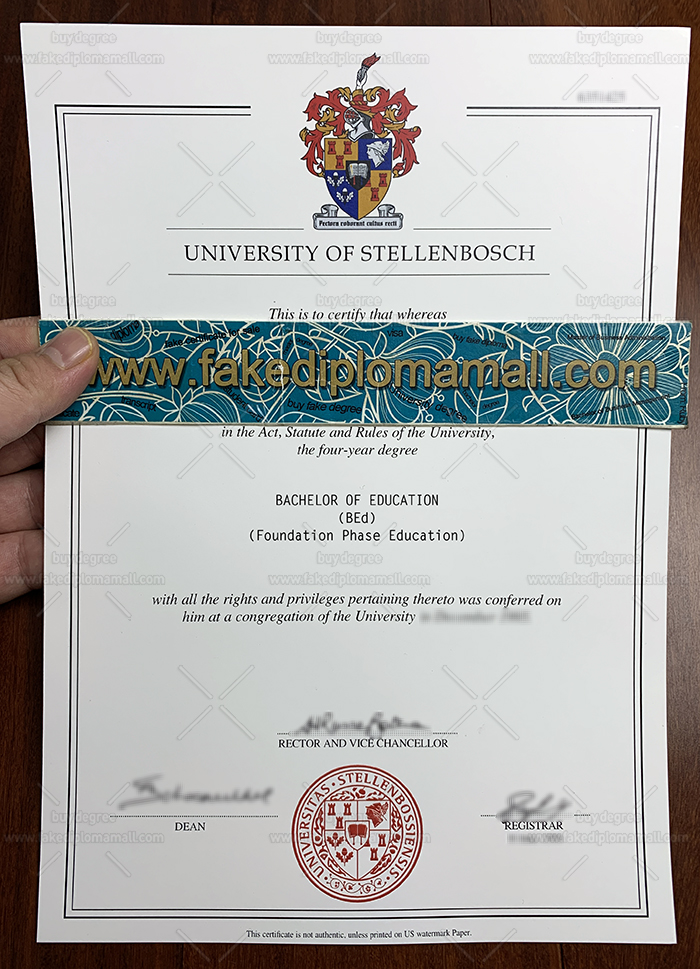 Stellenbosch University Fake Diploma