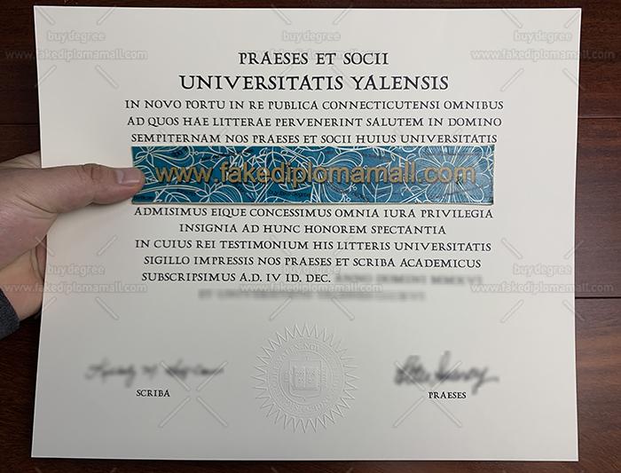 Yale University Fake Diploma