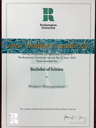 Fake Diploma Highlights: Buy Roehampton University Fake Degree Certificate