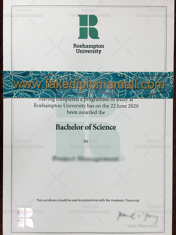 Roehampton University Fake Diploma