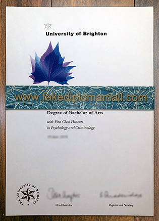 Make Sure To Get Your Genuine University of Brighton Fake Diploma Here