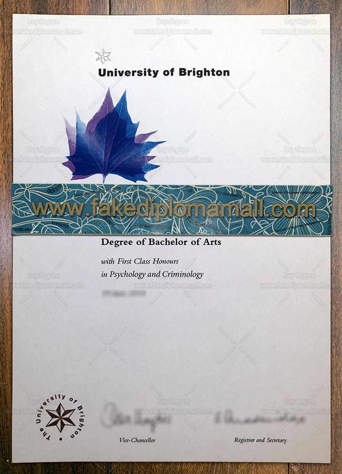 University of Brighton Fake Degree
